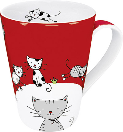 Globetrotter - cat - mug