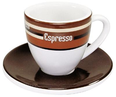 Coffee Bar/Kávové pruhy - espresso šálek s podšálkem