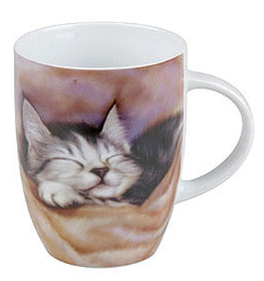 Sleeping kitten - mug