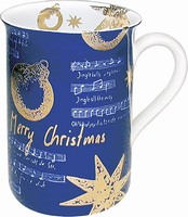 Merry Christmas - blue - mug