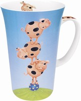 Stacked - pigs - mug