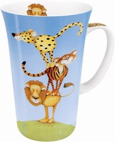 Stacked - wild cats - mega mug