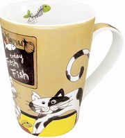 Happy cats - fresh fish - mug