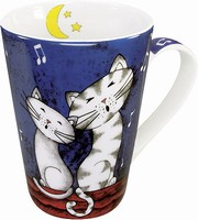Happy cats - good night - mug