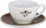 Coffee Bar/K�vov� logo - caf� cr�me ��lek s pod��lkem