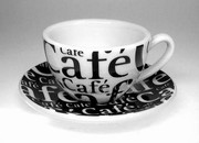 Coffee Bar/P�smo - caf� cr�me ��lek s pod��lkem