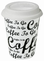 Coffee to go/White - hrnek se silikonov�m v��kem