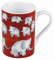 Chain of elephants red - minipresso