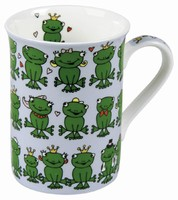 Frogs - blue - mug