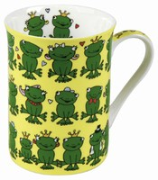 Frogs - yellow - mug