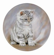 Tiger striped kitten - plate