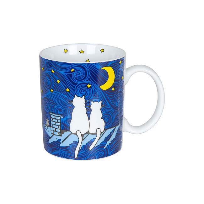 Mug Cat by night