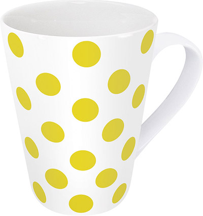 Polka dots yellow - mug
