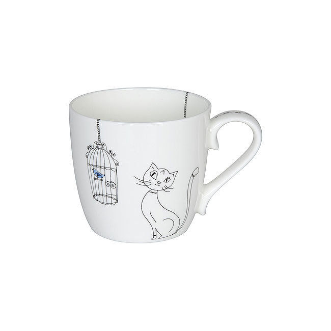 Mug Cats and Birds