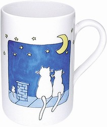 Cats at night - mug
