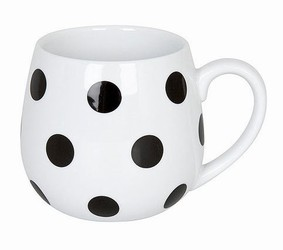 Snuggle mug Black and White - Dots