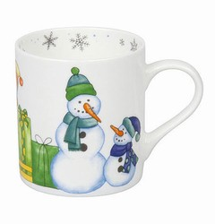 Mug Watercoloured Snowman - Sněhuláci