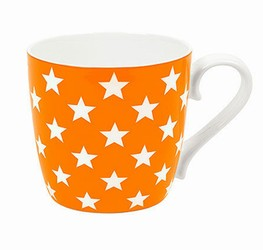Colours/Polka stars/orange - hrnek