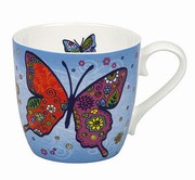Mug Colorful Animals Butterfly blue