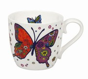 Mug Colorful Animals Butterfly white