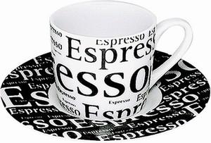 Writting on white - espresso