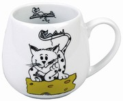 Cute and beastly - cat - snuggle mug