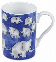 Chain of elephats blue - minipresso