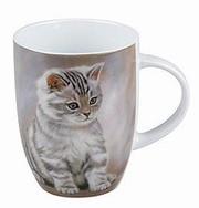 Tiger striped kitten - mug